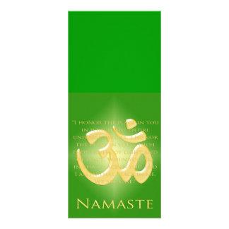 Om in Green & Gold - Namaste Rack Card Design