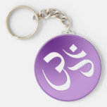 Om, in Purple and White