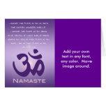 Om in Purples - Namaste