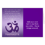 Om in Purples - Namaste Greeting Card