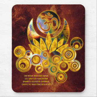 Om Lotus & GAYATRI MANTRA | universe of fire Mouse Pad
