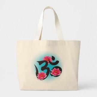 om lotus large tote bag
