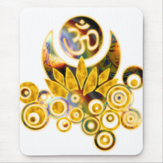 Om Lotus Mouse Pad