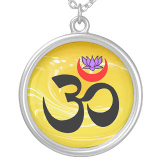 Om Lotus Necklace - Yoga Gifts