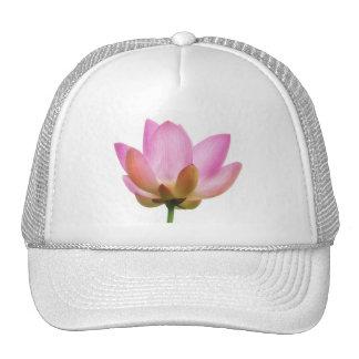 Om Lotus Pink Flower Petals Cap