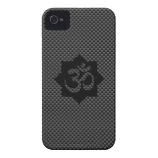 OM Lotus Spirituality Yoga in Carbon Fiber Style iPhone 4 Case-Mate Case