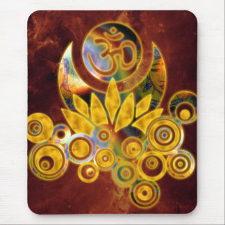 Om Lotus | universe of fire Mouse Pad