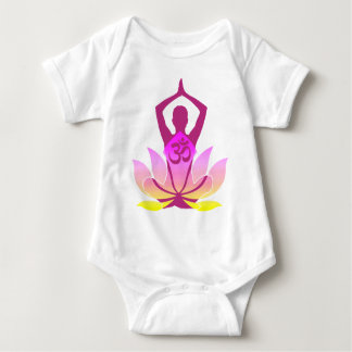 Om Lotus Yoga Pose Baby Bodysuit