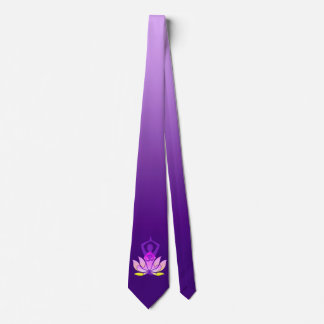 Om Lotus Yoga Pose Tie