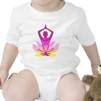 Om Lotus Yoga Pose Romper