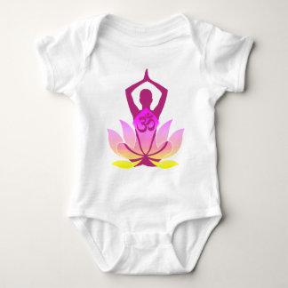 Om Lotus Yoga Pose Tshirt