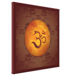 Om Lotusflower Gallery Wrapped Canvas