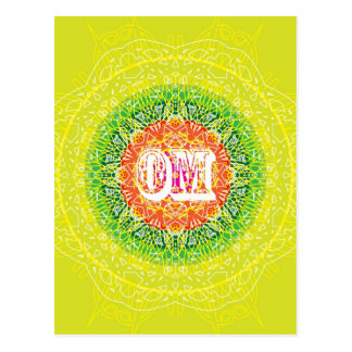 Om Mandala Design for Yoga Postcard