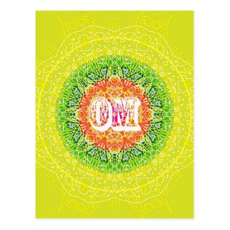 Om Mandala Design for Yoga Postcard