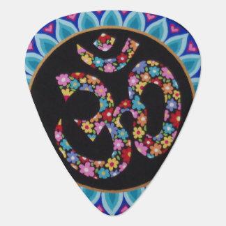 Om mandala design guitar pick by Soozie Wray