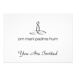Om Mani Padme Hum - Black Regular style Custom Announcements