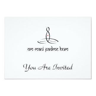 Om Mani Padme Hum - Black Sanskrit style 13 Cm X 18 Cm Invitation Card