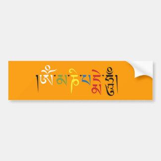 Om Mani Padme Hum Bumper Sticker Car Bumper Sticker