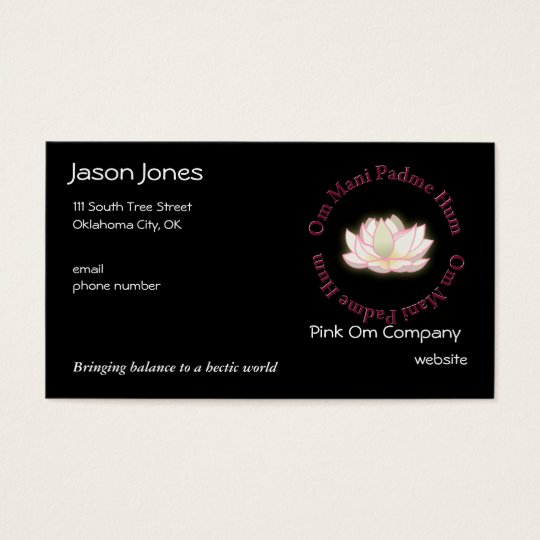 Om Mani Padme Hum Business Card