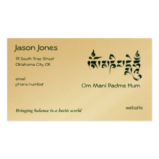 Om Mani Padme Hum Double-Sided Standard Business Cards (Pack Of 100)