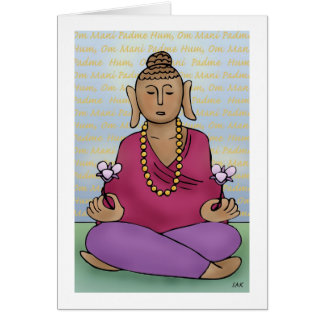 Om Mani Padme Hum Greeting Cards