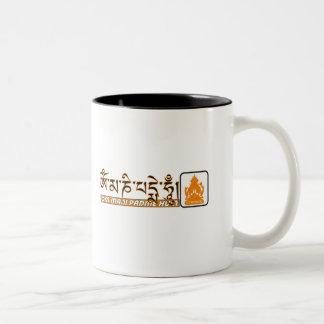 Om mani padme hum Chenrezig Two-Tone Mug
