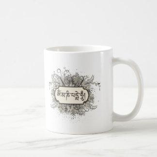 Om Mani Padme Hum Floral Coffee Mug