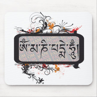 Om Mani Padme Hum Grubge Mouse Pads