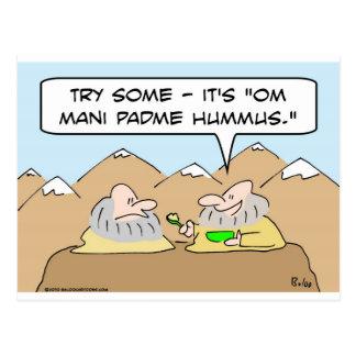 om mani padme hum hummus gurus postcard