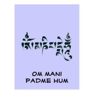 Om Mani Padme Hum III Postcard