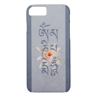 Om Mani Padme Hum Lotus - Blue iPhone 8/7 Case