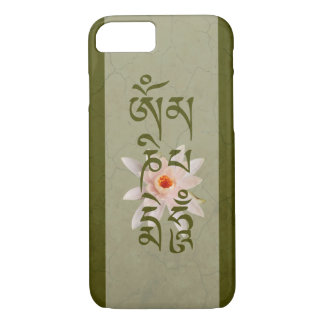 Om Mani Padme Hum Lotus - Green iPhone 8/7 Case