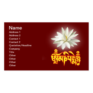Om mani padme hum mantra business card template