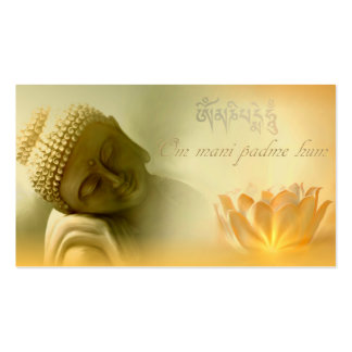 Om mani padme hum -Mantra Card Double-Sided Standard Business Cards (Pack Of 100)