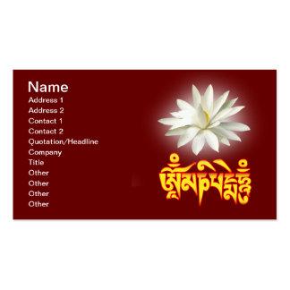 Om mani padme hum mantra pack of standard business cards