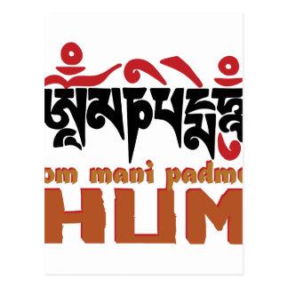 Om Mani Padme Hum Postcard