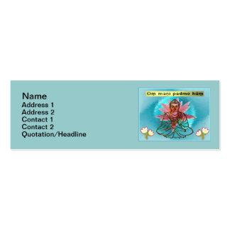 "Om Mani Padme Hum Skinny 3""x1"" Business Card"