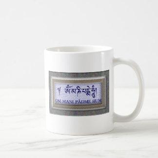 Om Mani Padme Hum Tea Cup Basic White Mug
