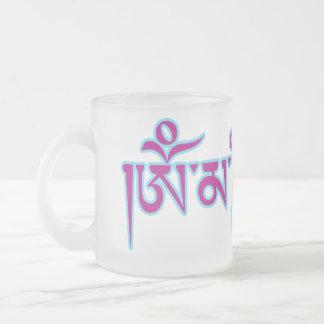 Om Mani Padme Hum Tibetan Script Buddhist Mantra 10 Oz Frosted Glass Coffee Mug