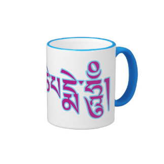 Om Mani Padme Hum Tibetan Script Buddhist Mantra Ringer Coffee Mug