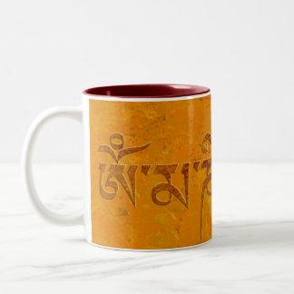 Om Mani Padme Hum Two-Tone Mug