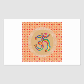OM Mantra 108  - Chant Value is = 56x365x108 x9 Rectangular Sticker