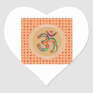 OM Mantra 108  - Chant Value is = 56x365x108 x9 Heart Stickers
