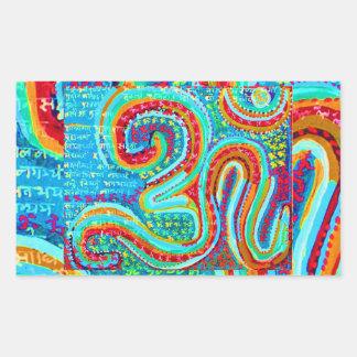 OM Mantra - 108 times Chanting n Meditation Rectangular Sticker