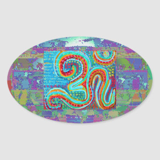 OM Mantra - 108 Times Oval Stickers