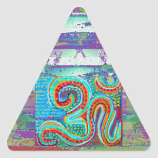 OM Mantra - 108 Times Triangle Sticker