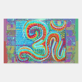 OM Mantra - 108 Times Rectangular Sticker