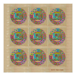 OM MANTRA -  108 x 9 OmMantra Scribbled Print