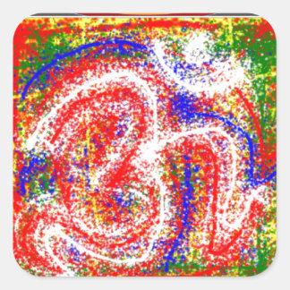 OM MANTRA : Dedication Passion Chant Prayer Square Stickers