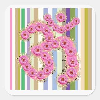 OM Mantra - Dedication with Flower Garlands Sticker